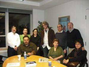 """Miembros fundadores del taller literario """"Pinzón 9"""" en otoño de 2008 (Villanova University, EE. UU.)"""