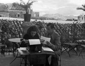 Miguel Hernández y Josefina Manresa, en Jaén.